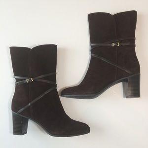 Isaac Mizrahi Love Suede Boots Sz9M